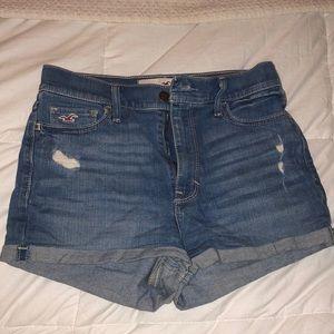 High waisted Hollister denim shorts